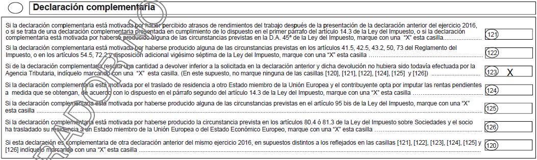 Complementaria Casilla 123