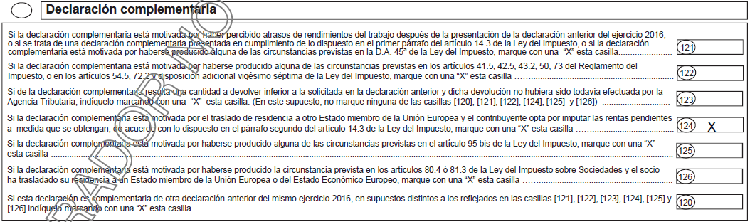 Complementaria Casilla 124