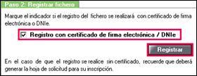 Paso 2: Registrar fichero