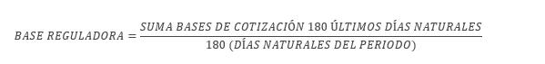 base reguladora dias naturales