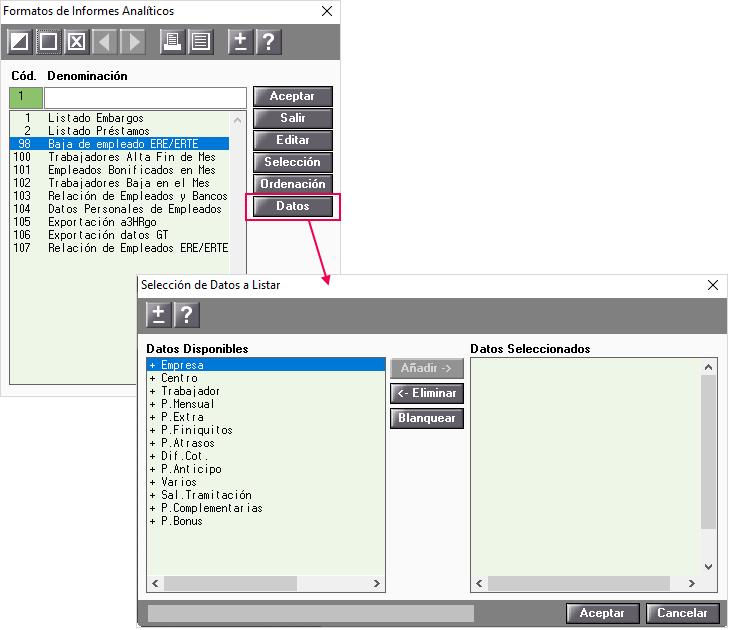 nuevo formato generador informes