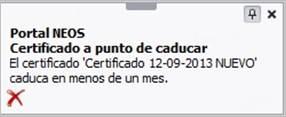 Certificado caducado