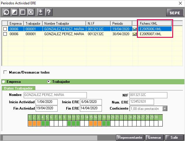 fichero xml periodos actividad