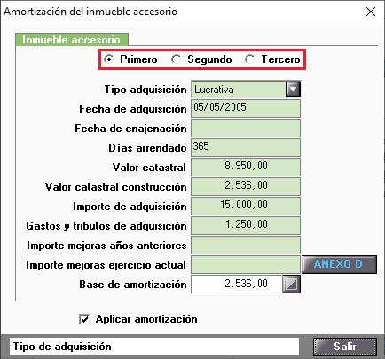 Amortizacion Inmueble Accesorio Ampliacion