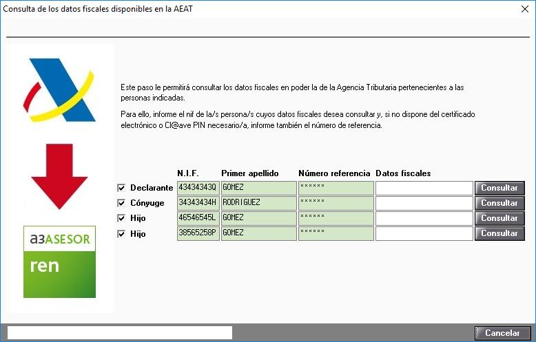 Consulta de los datos fiscales disponibles en la AEAT