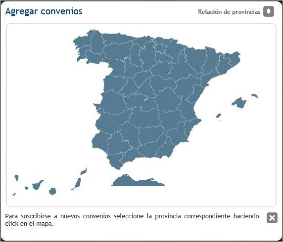 mapa convenios
