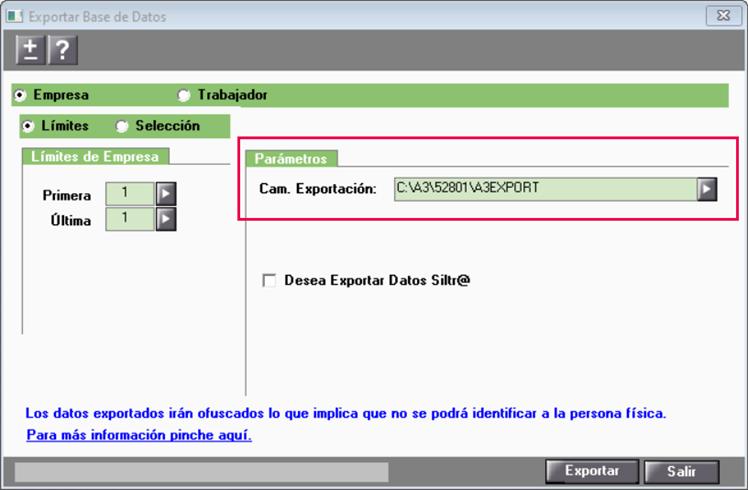 directorio proceso exportación