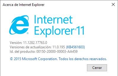 version internet explorer
