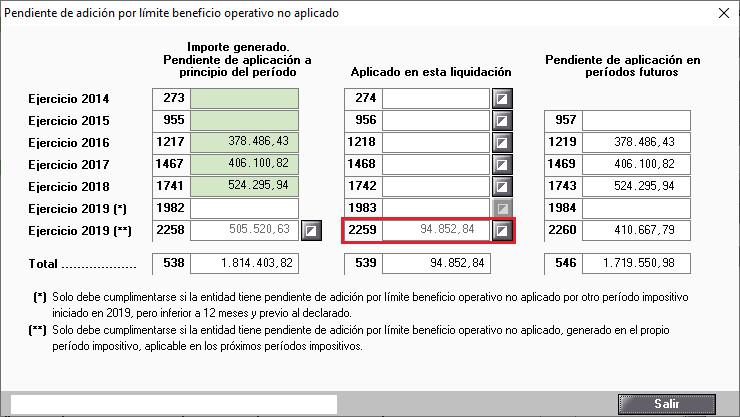 Pendiente de adicion por limite beneficio operativo no aplicado Automatico
