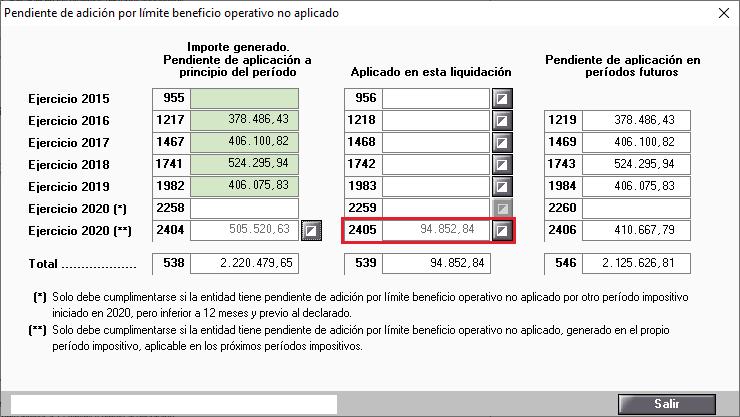 Pendiente de adicion por limite beneficio operativo no aplicado Automaticos