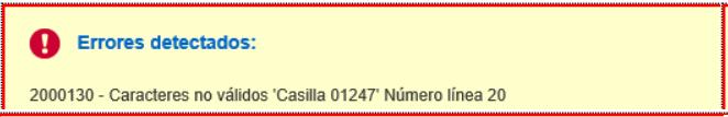 erro 2000130, casilla 1247