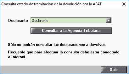 Consulta estado de tramitacion de la devolucion por la AEAT