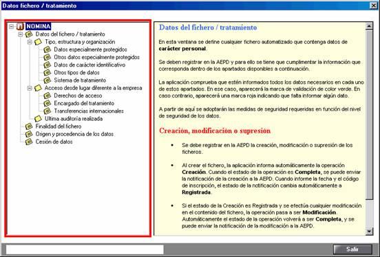 Datos fichero / tratamiento