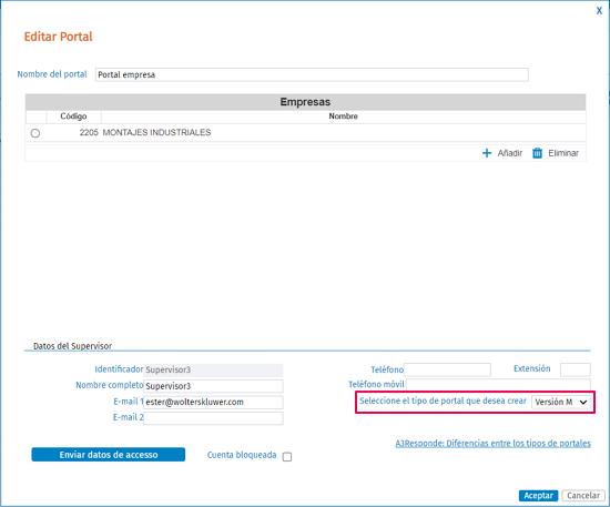 asociar version portal
