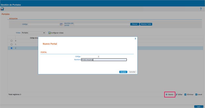 crear portal empleado por empresa