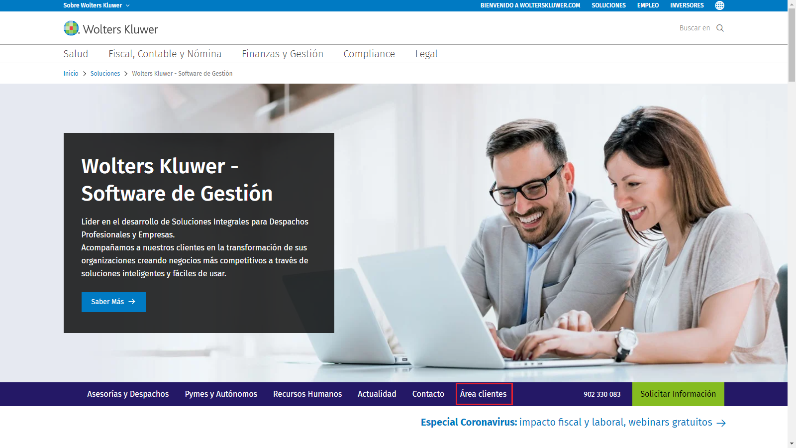 Area clientes Web Wolters Kluwer