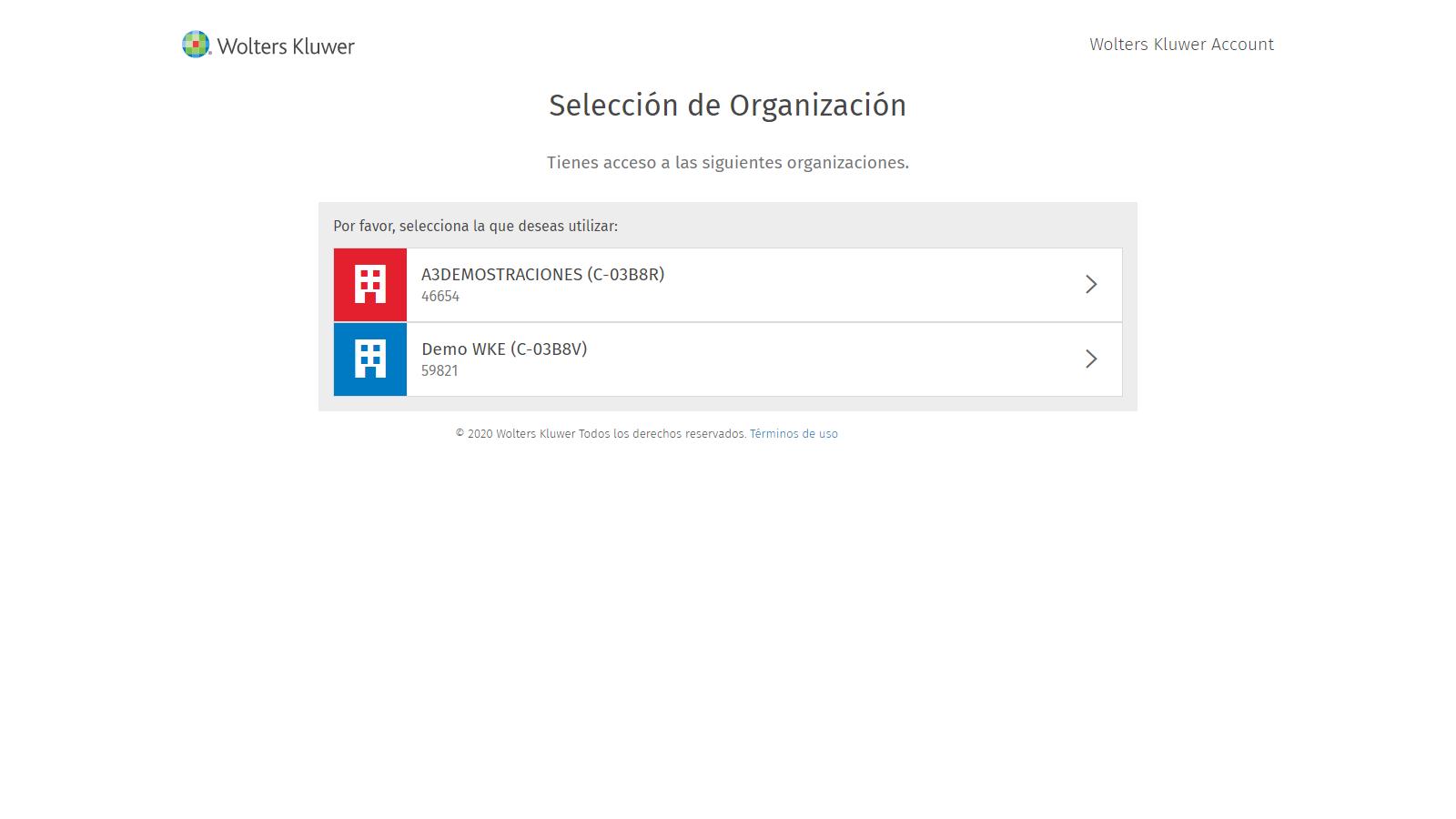 Seleccion de Organizacion