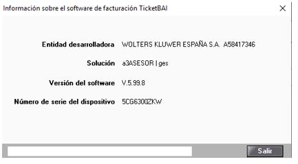 informacion desarrollador ticket BAI