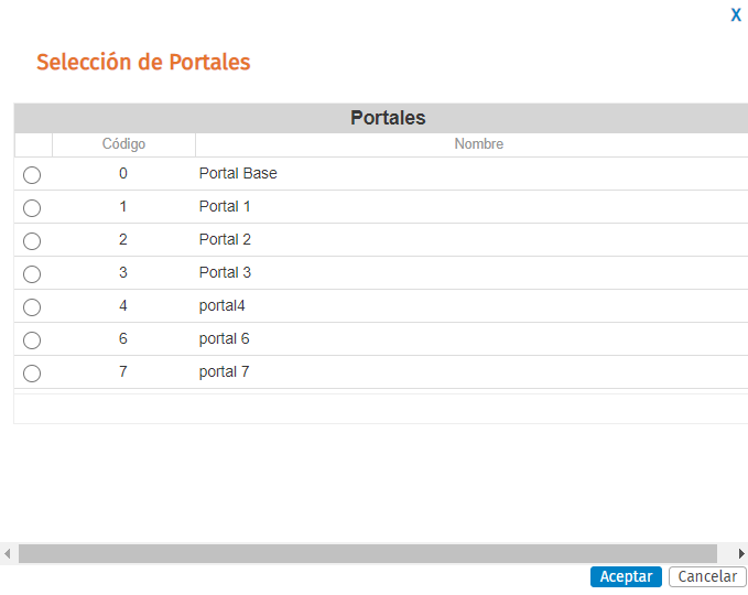 selecciona el portal