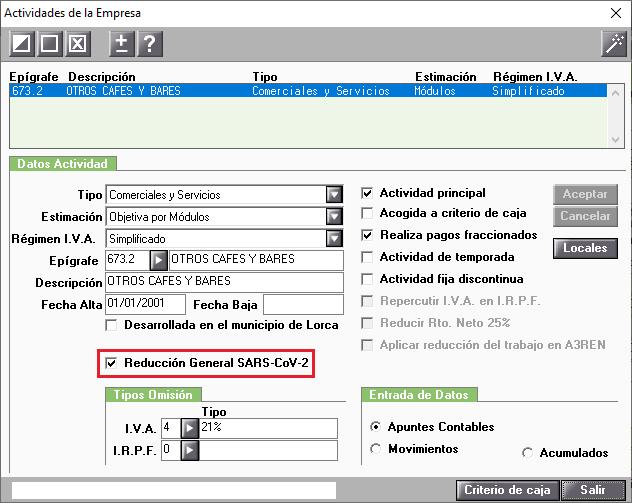 Reduccion General SARS-CoV-2 En Actividades de la Empresa