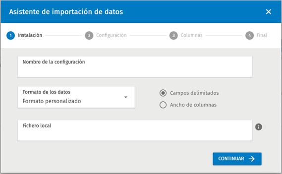 asistente importacion datos