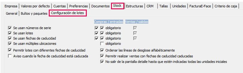 configuracion empresa
