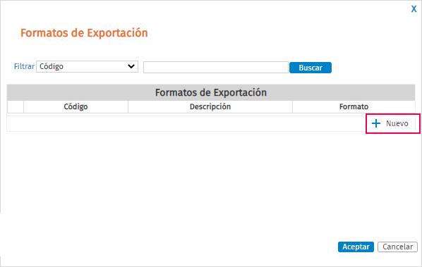 nuevo formato exportacion