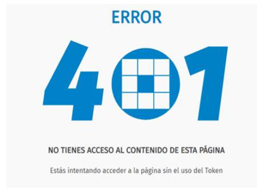 error 401 no tienes acceso al contenido de esta página