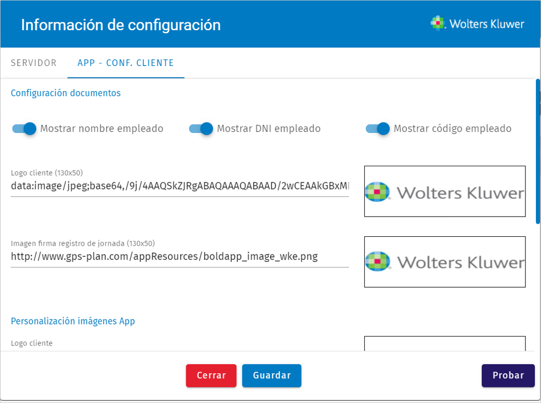 configuracion documentos