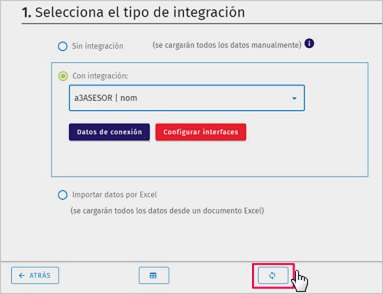 selecciona el tipo de integracion con integracion