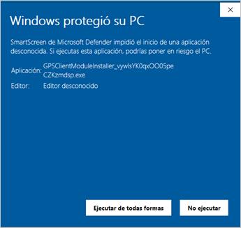 windows protegio su pc ejecutar de todas formas