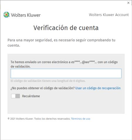 verificacion de cuenta MFA