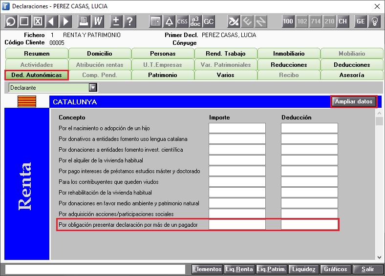 DDAA  Catalunya Ampliar Datos Por obligacion a presentar declaracion por tener mas de un pagador