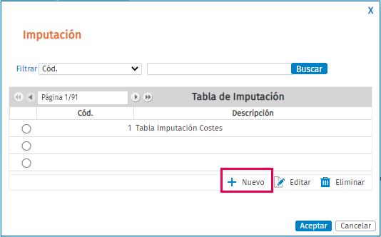 crear tabla imputación costes