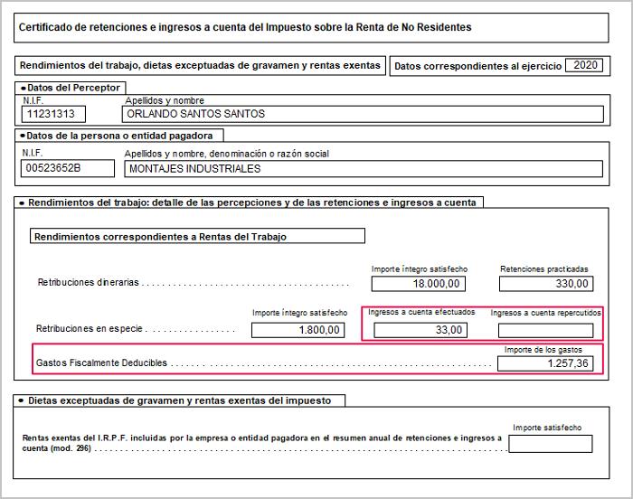 certificado ingresos y retenciones no residentes