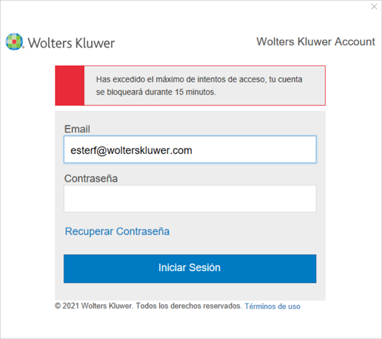 acceso cuenta wolters kluwer bloqueado