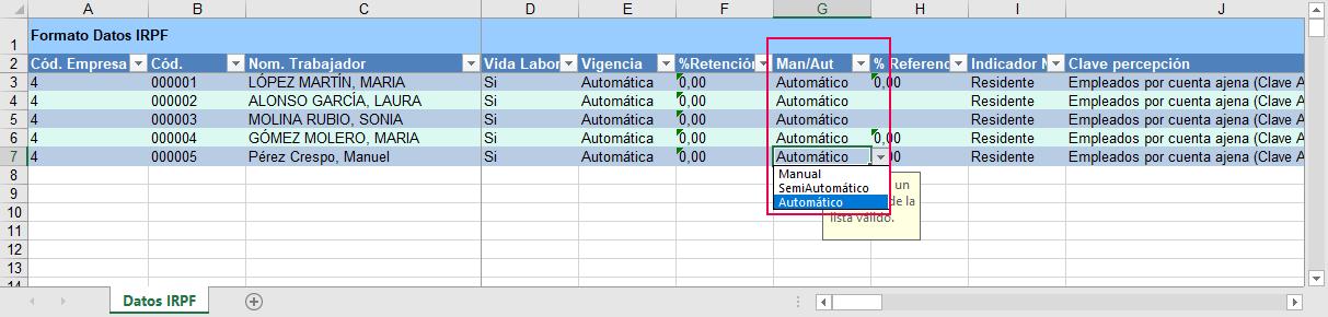 formato Datos IRPF