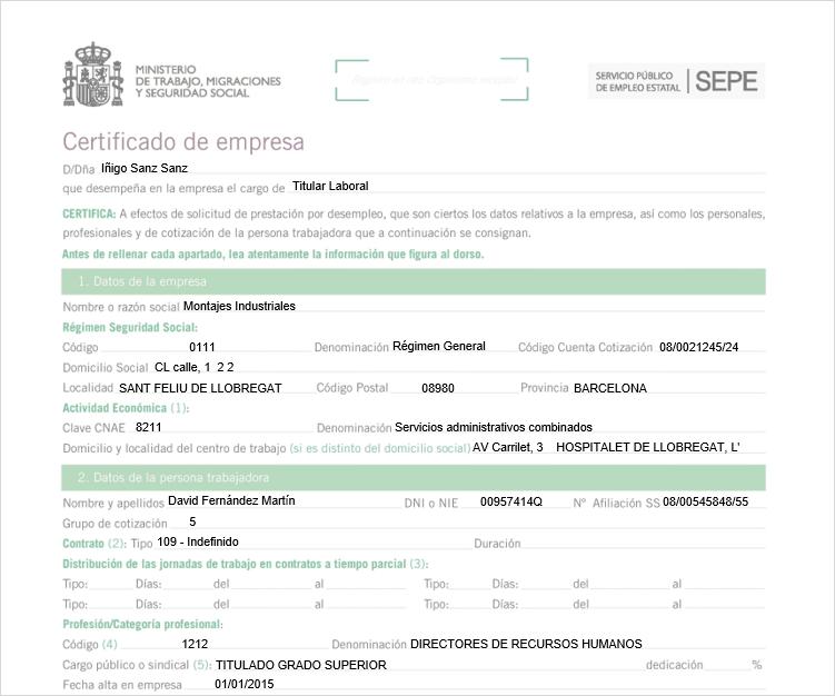 certificado ERTE
