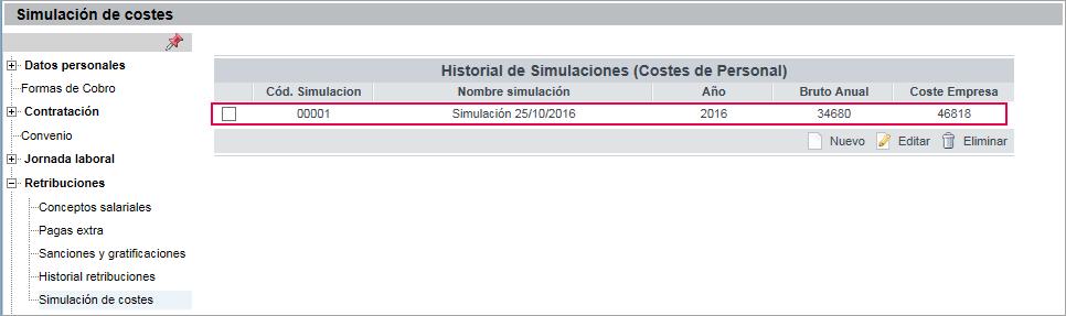 historial simulaciones