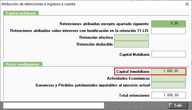 Atribuciones de retenciones e ingresos a cuenta