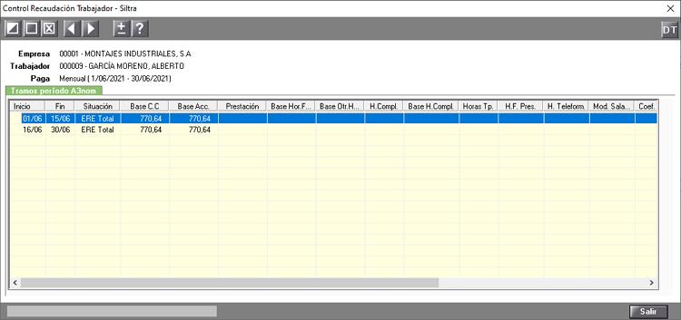 fichero de bases con cambio de ERTE en el mes SILTRA