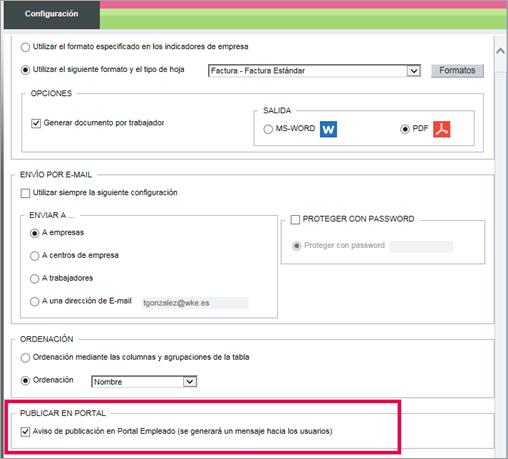 configuracion publicar portal