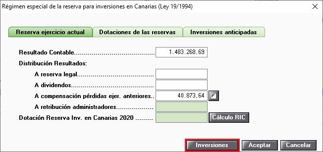 Regimen especial de la reserva para inversiones en Canarias Dotaciones de las reservas Acceso Inversiones