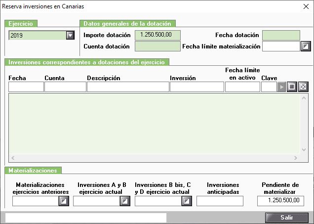 Reserva inversiones Canarias Dotaciones de las reservas Inversiones