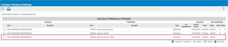 cancelar anular embargo