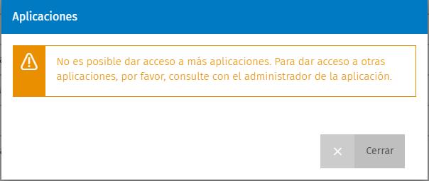 mensaje administrador aplicacion