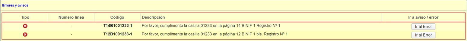 Cumplimenta la casilla 01233 en la pagina 12 B NIF 1 bis Registro N 1
