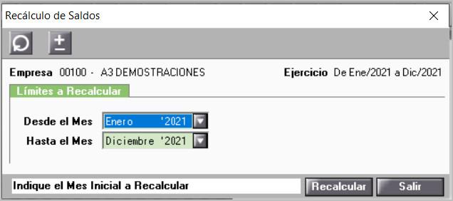 recalcular