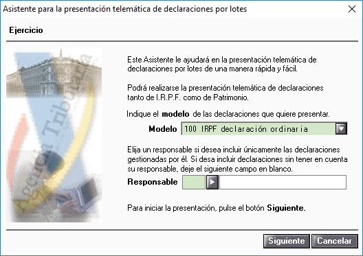 Asistente para la presentación telemática de declaraciones por lotes 1