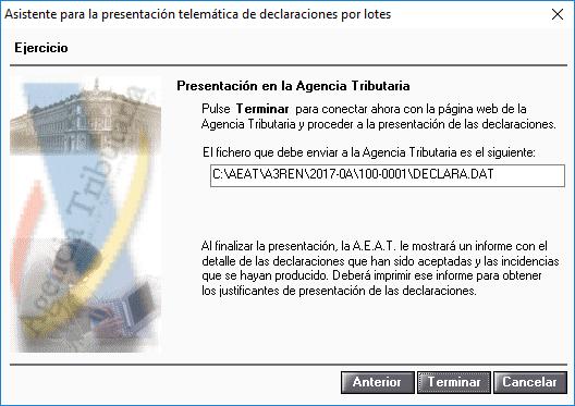 Asistente para la presentación telemática de declaraciones por lotes 3